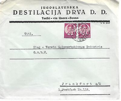 YUGOSLAVIA 1934 TYPED COVER TO GERMANY MY REF 83