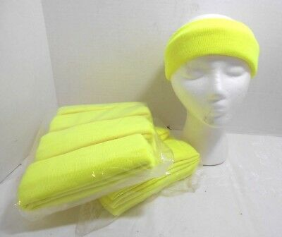 Lot of 24 Ski Knit Headband Safety Green Hi-Visibility Warm Winter Ear Warmer