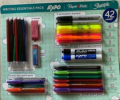 42 Pcs - Sharpie Paper Mate Expo Writing Essentials Assortment Pack Ships Free
