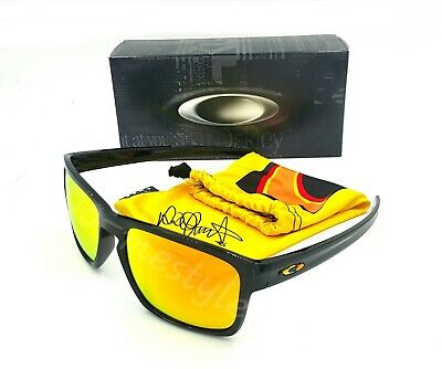 Oakley SLIVER Sunglasses OO9262-27 Black W/Fire Iridium MOTO GP VALENTINO ROSSI