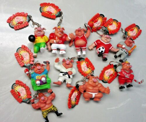 Toybox Sports Hawgs Keychains 1998 Football Wrestling Karate Soccer + Many More