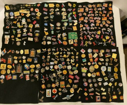 Lot 300+ Lapel Pins Olympics Flags Angels Travel Sports + Vintage