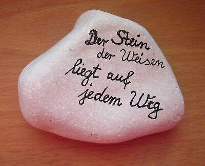 """Kiesel """"Stein der Weisen"""" Briefbeschwerer mit SPRUCH Garten Weg Deko Kieselstein"""