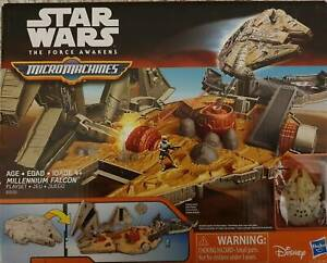 Star Wars The Force Awakens Micromachines Millennium Falcon Playset Windang Wollongong Area Preview