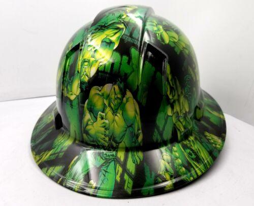 Hard Hat FULL BRIM custom hydro dipped , OSHA approved GREEN HULK NEW KILLER 2