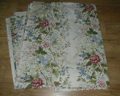 Plumbs vintage Curtains Flowers And Butterfly Design 64 x 59