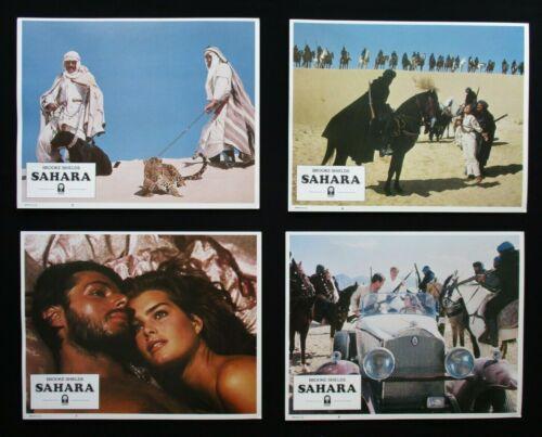 SAHARA 1983 Original lobby card set Brooke Shields Hispano Suiza car