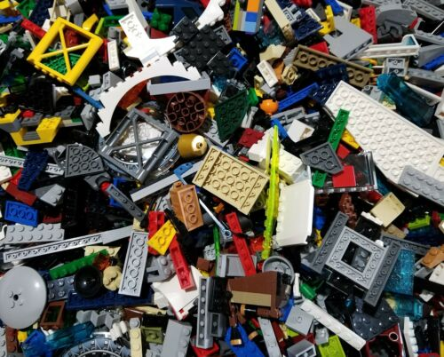 Lego Lot of 100 Pieces Parts Bricks Random From Huge Bulk Assorted Clean