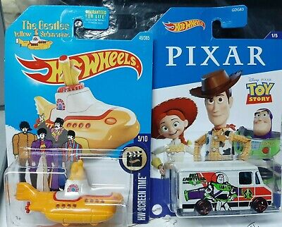 Hot Wheels The Beatles Yellow Submarine/Toy Story lot of 2
