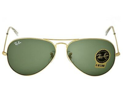 Ray-Ban RB3025 Aviator Classic L0205 Gold Frame/Green Classic G-15 Lenses (Ray Ban Gold Green Aviator)