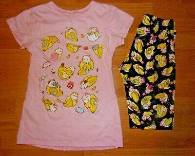 Hot Topic Juniors Girls Bananya T- Shirt Size Small Bananya Print Leggings Small