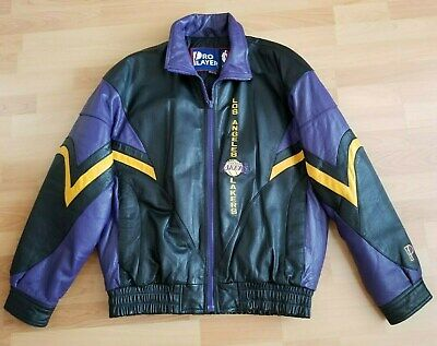 Vintage Los Angeles Lakers Leather Jacket Size  L