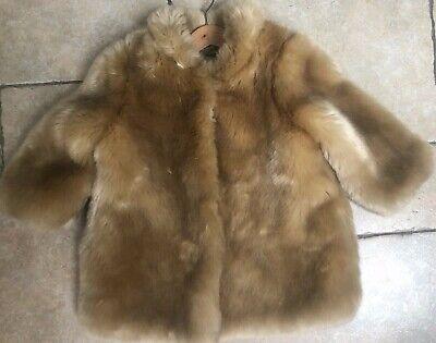 Hucklebones Girls Faux Fur Coat age 4 , like Age 4-5