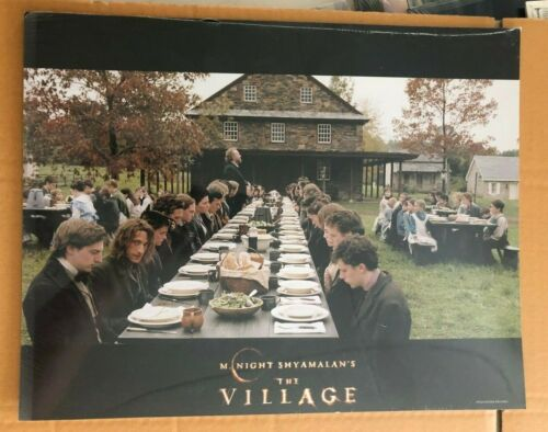 THE VILLAGE 2004 movie original US Lobby Card 11x14 set