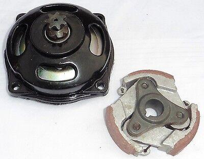 Kupplung mit Kupplungsglocke für Pocketbike Pocketquad 49cc  7 er Ritzel 25H
