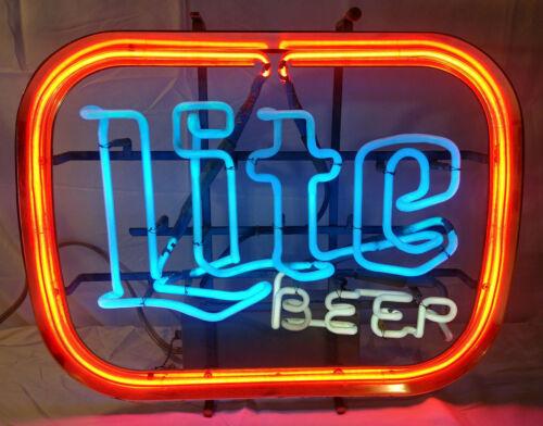 Vintage Miller Lite Neon Beer Sign Bar Light  Advertisement