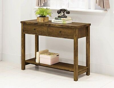 Console Table With Drawers Furniture Accent Vintage Rustic Wood Entryway Sofa