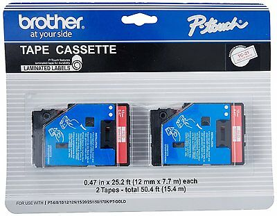 Laminated Tape Thermal Cartridge - Brother TC21 TC Laminated Tape Cartridge for P-touch Printer - 2 / Pack