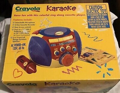 e5789d4d112f CRAYOLA Portable Kids Sing Along Cassette Tape Player Karaoke Machine
