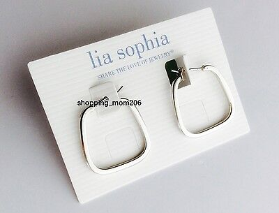 Lia Sophia  Mod  Silver Tone Earrings