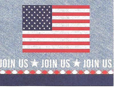 Patriotic American Flag Hallmark Party Invitations - Join Us - Set of 14 - Patriotic Invitations