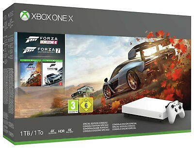 Microsoft Xbox One X 1TB 4K Console with Forza Special Edition Bundle - White.