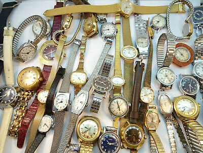 VINTAGE TIMEX LADIES WINDUP AND ELECTRIC WATCH LOT MOST WILL RUN IF WOUND