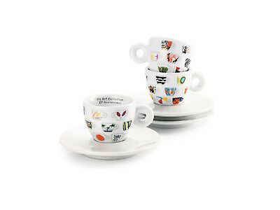 Illy Espresso Cups (illy Art Collection 25° Anniversary Espresso Cup + Saucer by IPA Limited Edition )