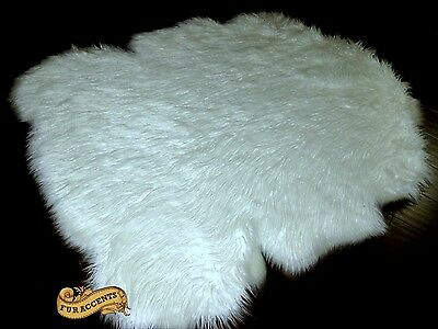 FUR ACCENTS Classic Border Sheep Area Rug Shaggy Faux Fur All Colors and Sizes ()
