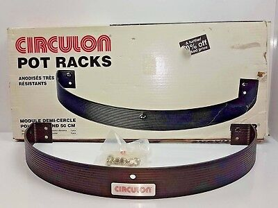 Classic Circulon  black metal kitchen pot rack 20