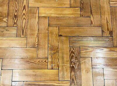 Reclaimed Victorian Pitch Pine Parquet Block Flooring  -  Warwick Reclamation