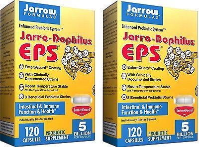 Jarrow Formulas Jarro-Dophilus EPS Probiotic, 120 Capsules - Pack of 2