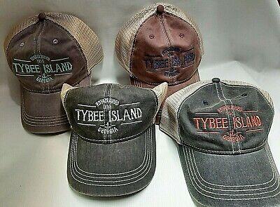 Souvenir Tybee Island Georgia Retro Ball Caps Embroidered Adjustable Adult Hats