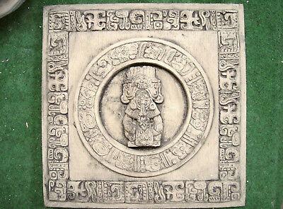 MAYA AZTEKEN WAND KALENDER ANTIK PATINIERT NEU AMERIKA 2672A antik