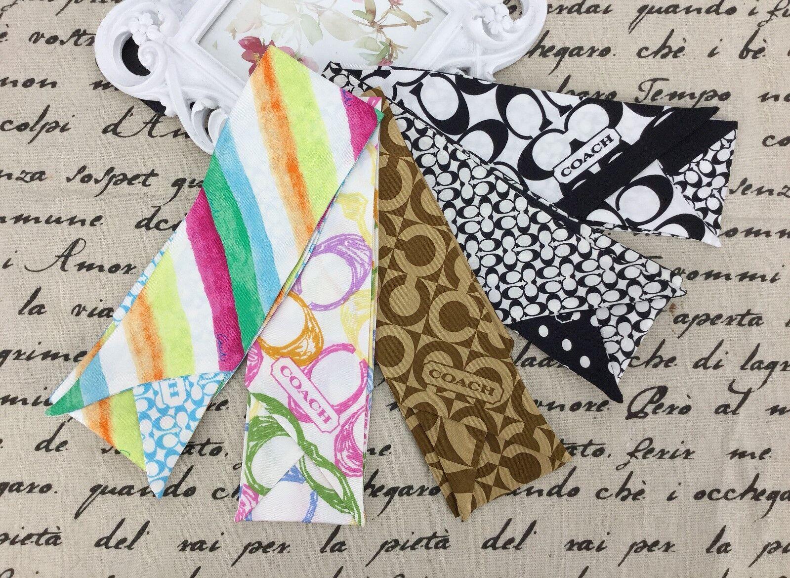 T. NEW Coach Multi-color Ponytail 100% Silk Bag Accessories