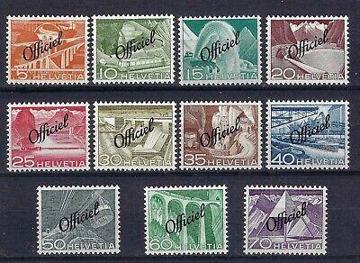 Switzerland 1950 Officials Complete Set Mint Never Hinged CV £100