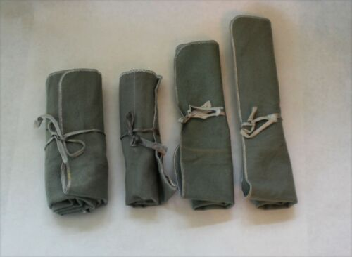 Sterling Silver Flatware Storage Roll Up Bags - Set of 4
