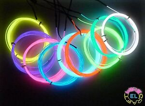1metre-EL-Wire-1-3mm-diameter-Fine-Angel-Hair-Tron-Glow-Neon-4-a-metre