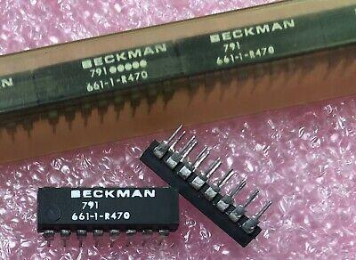 Beckman 661-1-r470 Resistor Network 470 Ohm 16-pin Dip 2 New Qty.5