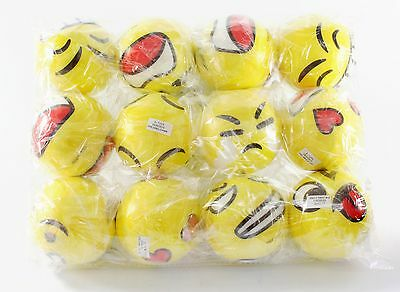 Emoji Set 12 Big Hand Wrist Finger Exercise Stress Relief Therapy Squeeze Balls (Ball Emoji)