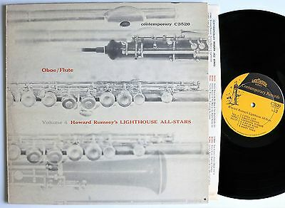 HOWARD RUMSEY´S LIGHTHOUSE ALL-STARS OBOE/FLUTE ORIG US CONTEMPORARY DG LP 1956