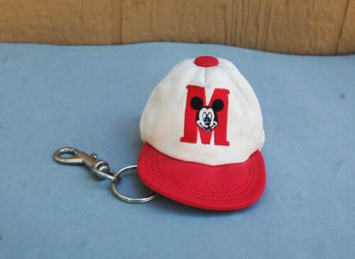 Mickey Mouse Baseball Hat Coin Purse Keychain Vintage Embroidered Walt Disney Co