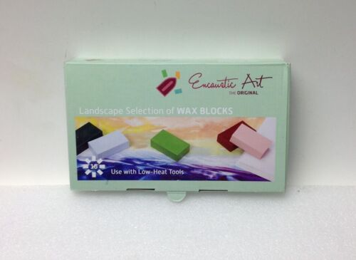Encaustic Art Wax 16 Wax Block Colors Landscape Selection New in Box Painting