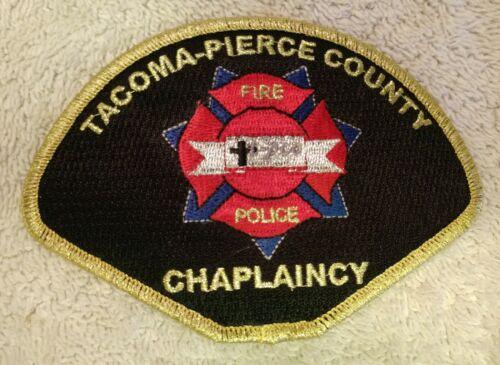 Tacoma / Pierce County, Washington police & fire chaplain patch - postpaid