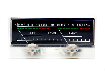 1pc Sd-319 Dual Panel Vu Meter 500ua 680 115x54mm With 12v Bulb Sd Flashstar