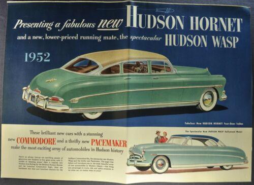 1952 Hudson Brochure Hornet Commodore Wasp Pacemaker Excellent Original 52