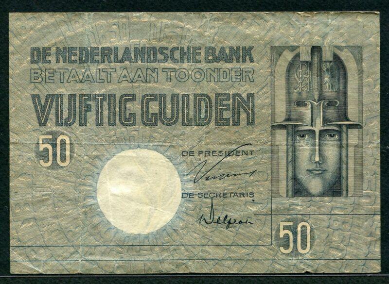 Netherlands 1931, 50 Gulden, P47, F-VF