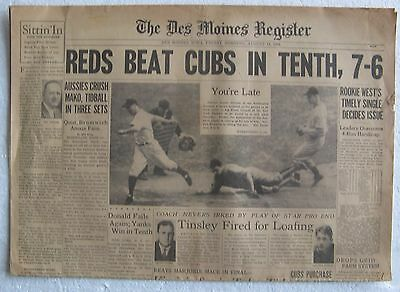 1939 8 18 Newspaper   The Des Moines Register   4 Page Sports And Comic Section