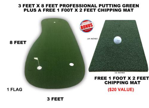 Professional Synthetic Nylon Turf Practice Putting Golf Green - 3 feet x 8 feet