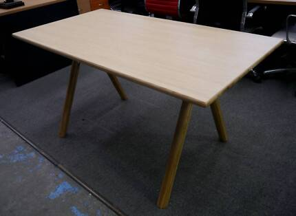 New Natural Ash Timber Scandi Jane Desk Table Home Office